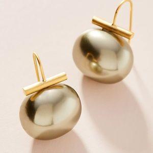 Anthropologie Pebble Pearl Drop Earrings